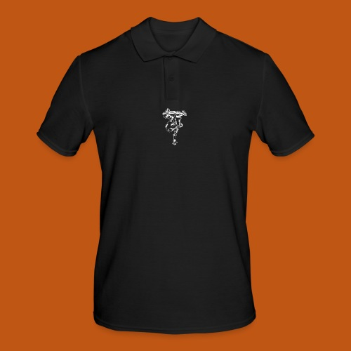 Skater / Skateboarder 03_weiß - Männer Poloshirt