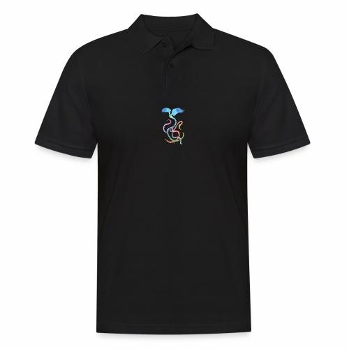 Graceful - Rainbow Bird in Ink - Men's Polo Shirt