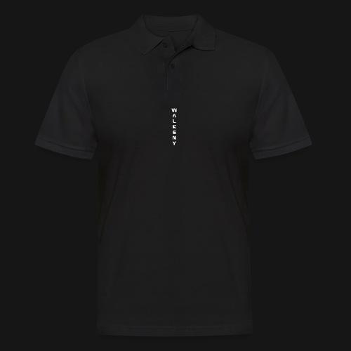 Walkeny Schriftzug vertikal in weiß - Männer Poloshirt
