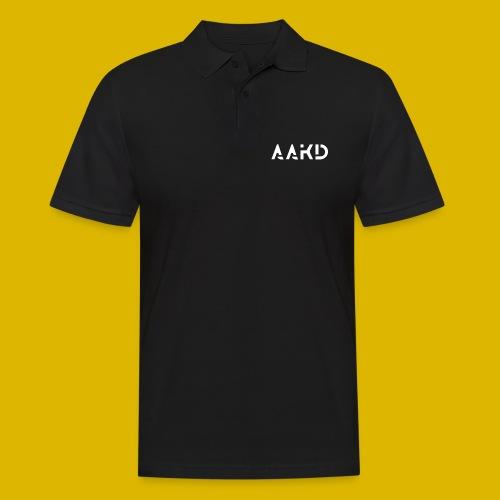 AAKD Logo in weiß - Männer Poloshirt