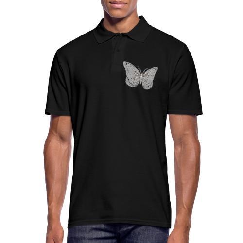 Süßer Schmetterling mit filigranen Totenköpfen - Männer Poloshirt