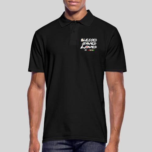 Blessed Saved Loved by Jesus - Männer Poloshirt