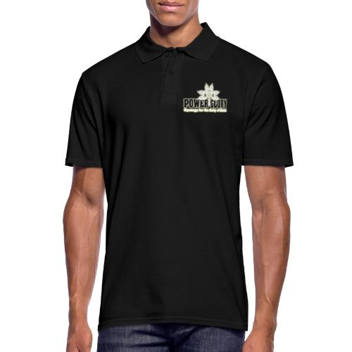 Power and Glory Logo glow - Men's Polo Shirt