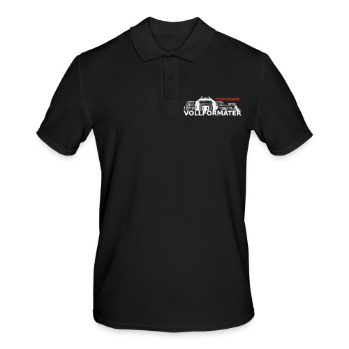 Pentaxians VOLLFORMATER white Logo - Männer Poloshirt
