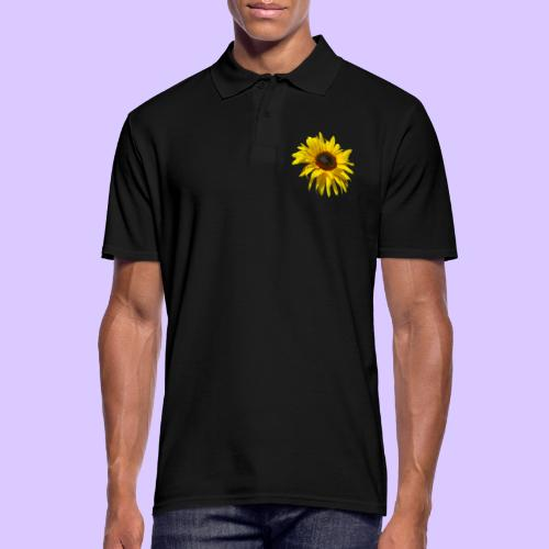 blühende Sonnenblume, Sonnenblumen, Blumen, Blüten - Männer Poloshirt