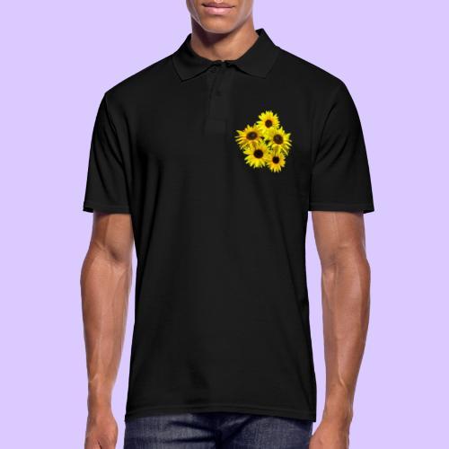 Sonnenblumenstrauss, Sonnenblume, Sonnenblumen - Männer Poloshirt