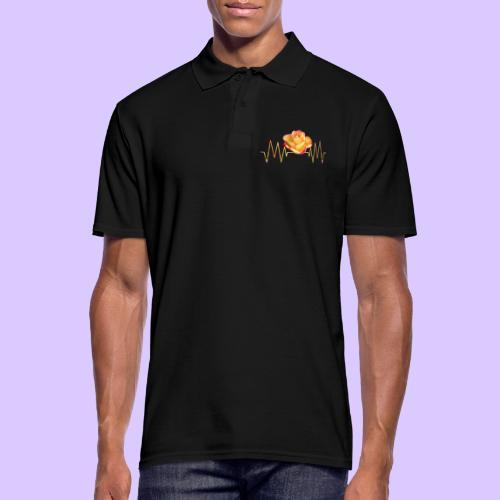 Rose, Herzschlag, Rosen, Blume, Herz, Frequenz - Männer Poloshirt