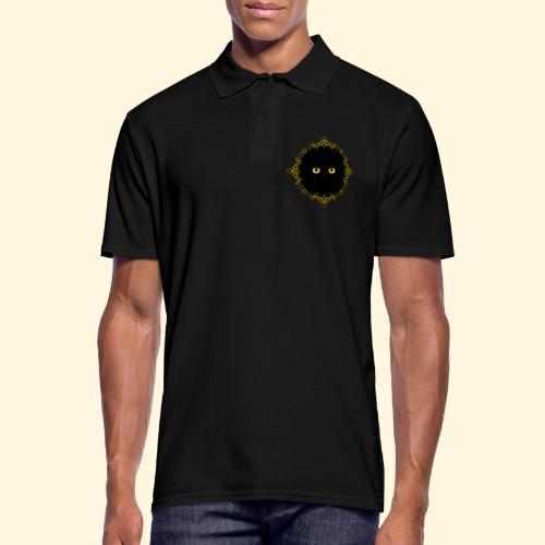 Badge Chat Noir - Pixel Art - Polo Homme
