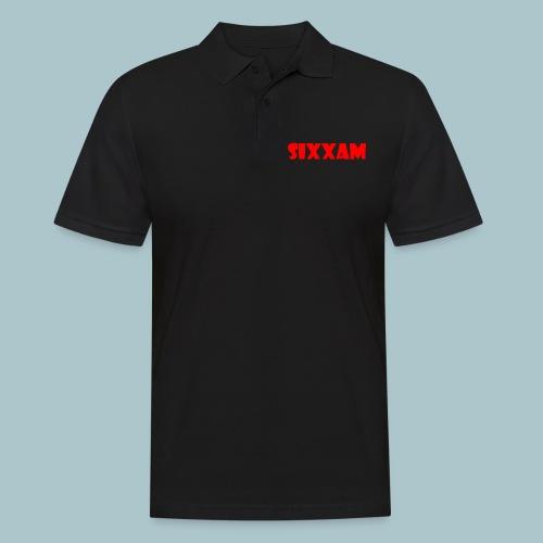 sixxam logo rood - Mannen poloshirt