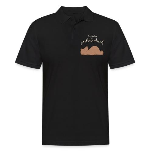 flauschiger, knuffiger Bär - Männer Poloshirt