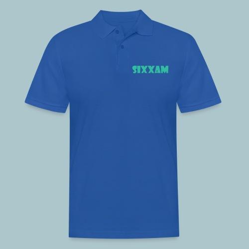 sixxam logo blauw - Mannen poloshirt