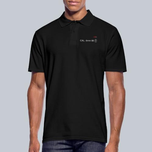 CAL. 6mm WHITE - Männer Poloshirt