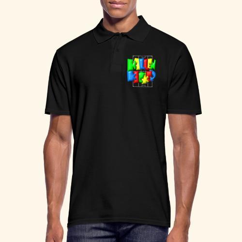 Hallenkicker im Fußballfeld - Balloon-Style - Männer Poloshirt