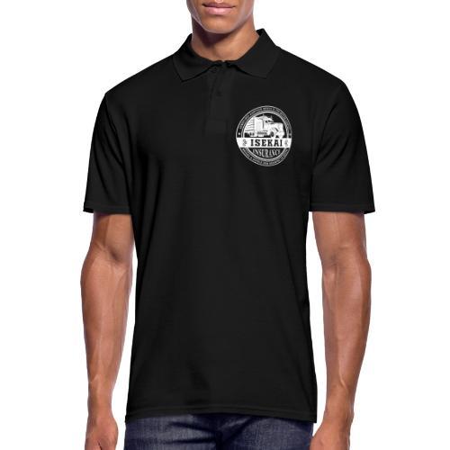 Funny Anime Shirt Isekai insurance Co. - White - Mannen poloshirt