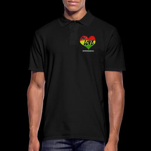 ONE LOVE - HEART - Männer Poloshirt