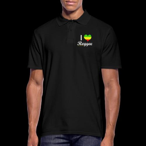 I LOVE Reggae - Männer Poloshirt