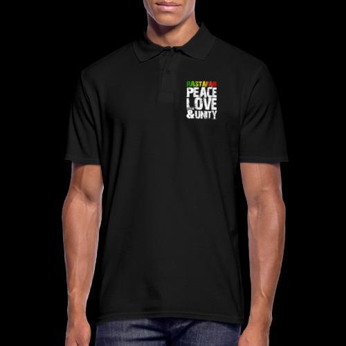 RASTAFARI - PEACE LOVE & UNITY - Männer Poloshirt
