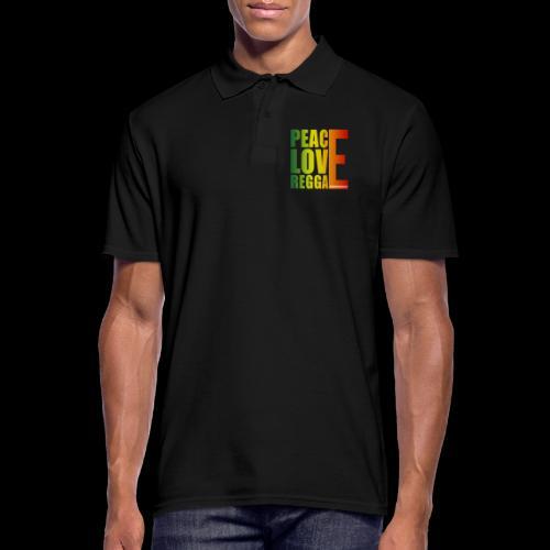 PEACE LOVE REGGAE - Männer Poloshirt