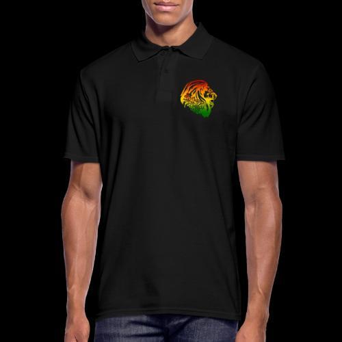 RASTA FARI LION - Männer Poloshirt