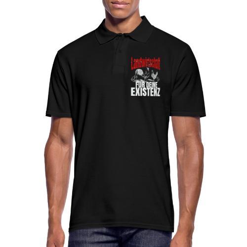 Landwirtschaft für Deine Existenz - Landwirt Huhn - Männer Poloshirt