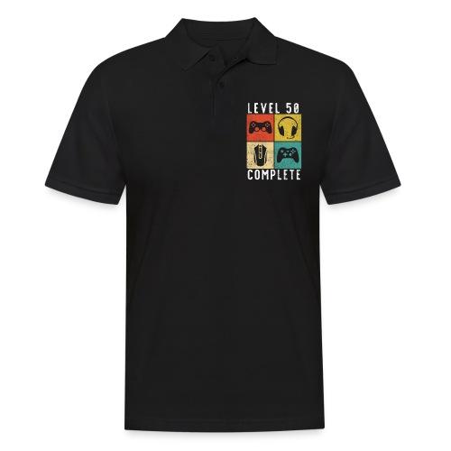 50. Geburtstag Level Complete Gaming - Männer Poloshirt