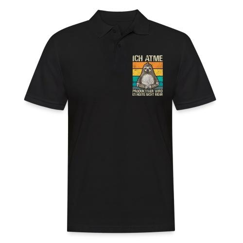 Lustiges Faultier Spruch Geschenk - Männer Poloshirt