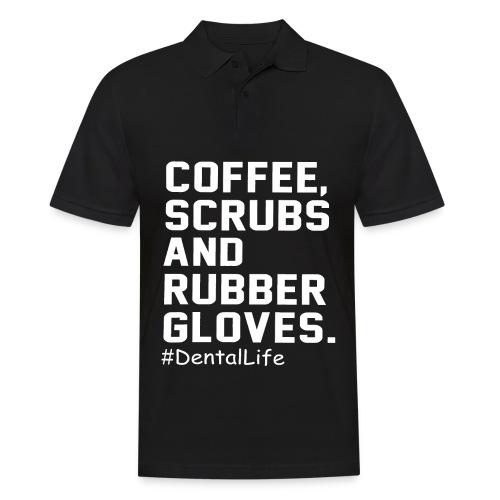 Coffee scrubs and rubber gloves - Men's Polo Shirt