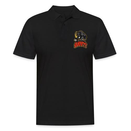 What did you say? grappige t-shirt /boze neushoorn - Mannen poloshirt