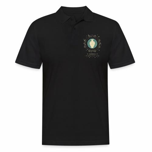 Sternzeichen Wassermann Aquarius Januar Febbruar - Männer Poloshirt