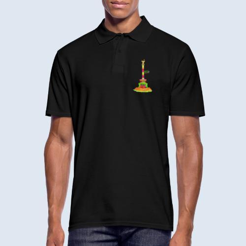 Siegessäule Berlin PopArt ickeshop BachBilder - Männer Poloshirt