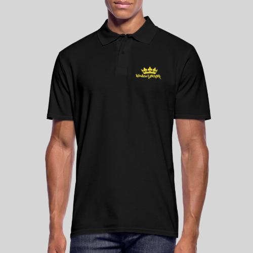 Königstochter m. Krone über der stylischen Schrift - Männer Poloshirt