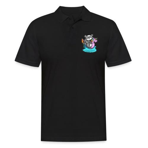Panda mit Einhorn Schwimmreifen - Männer Poloshirt