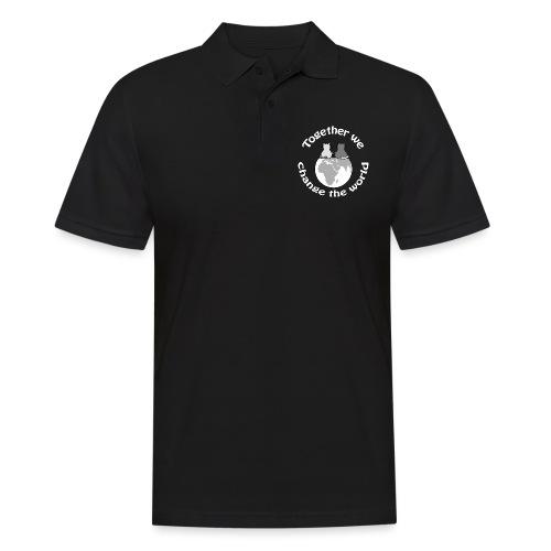 Gemeinsam die Welt verbessern - Ein Statement - Männer Poloshirt