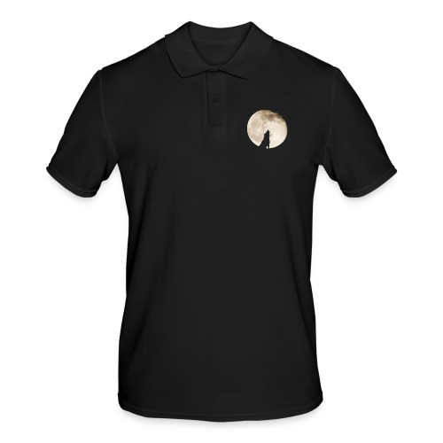 The wolf with the moon - Polo Homme