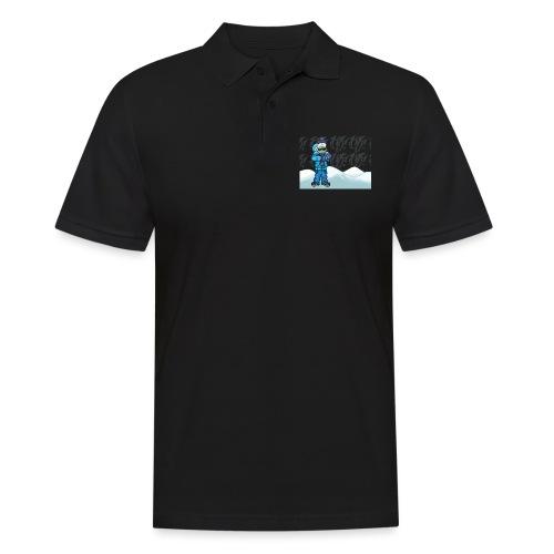 Freezing Turtle Snowboarder/Frierender Snowboarder - Männer Poloshirt