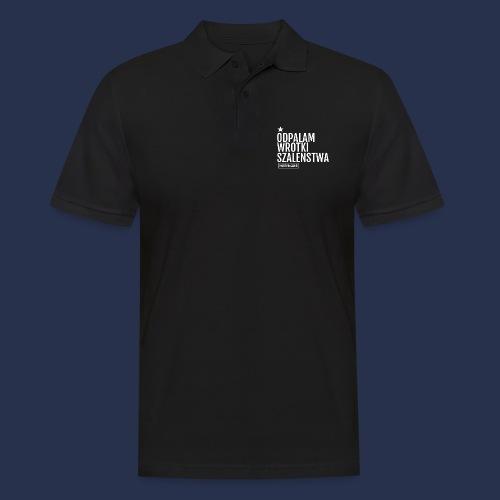 WROTKI SZALENSTWA - napis jasny - Koszulka polo męska