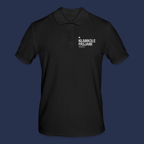kłamkolę - napis jasny - Koszulka polo męska