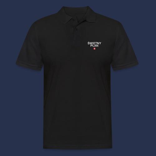 SWIETNY PLAN - napis bialy - Koszulka polo męska