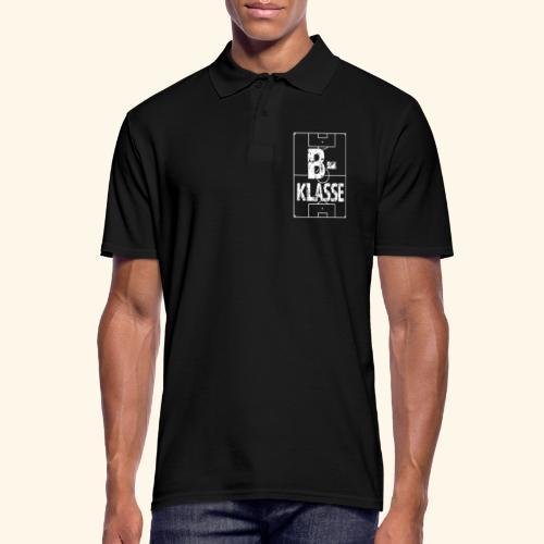 B-Klasse im Fußballfeld - Männer Poloshirt