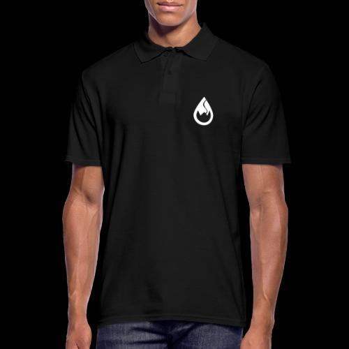 WS-Crew Tropfen-Logo weiß - Männer Poloshirt