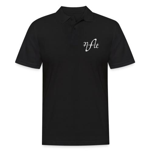 AFLT logo (white) - Men's Polo Shirt