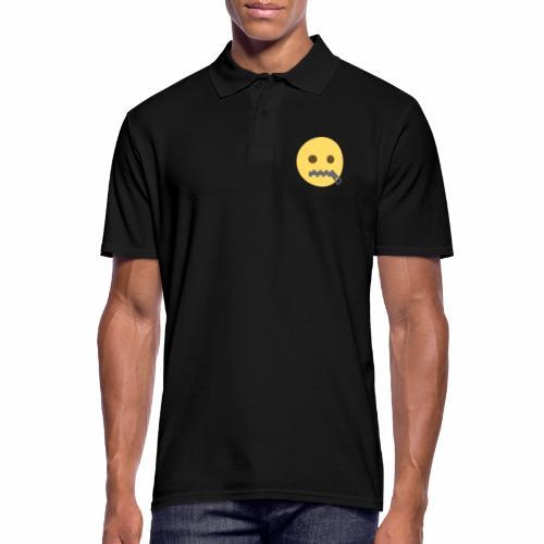 emoji bocca chiusa - Polo da uomo