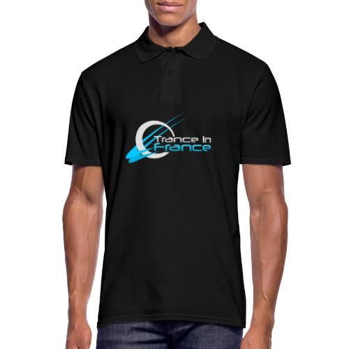 Trance In France Black - Large Logo - Polo Homme
