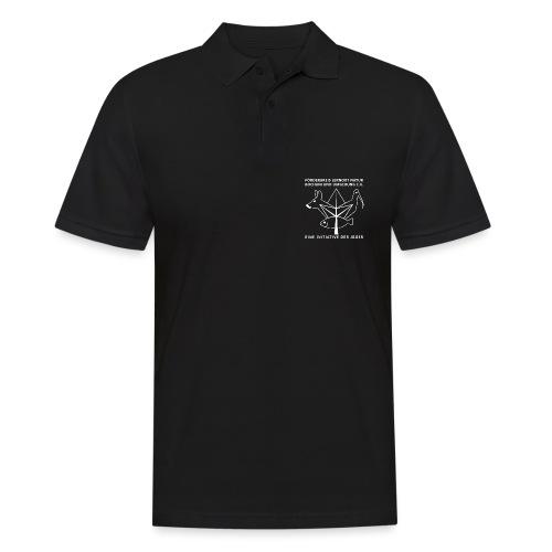 Lernort Natur Contour wht - Männer Poloshirt