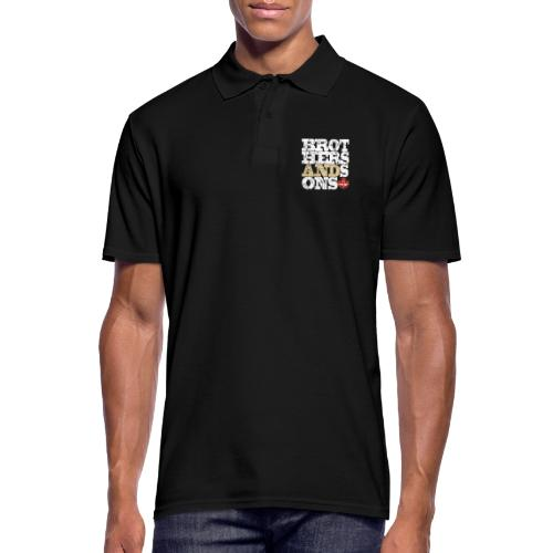 Brothers and Sons logo - light design - Men's Polo Shirt