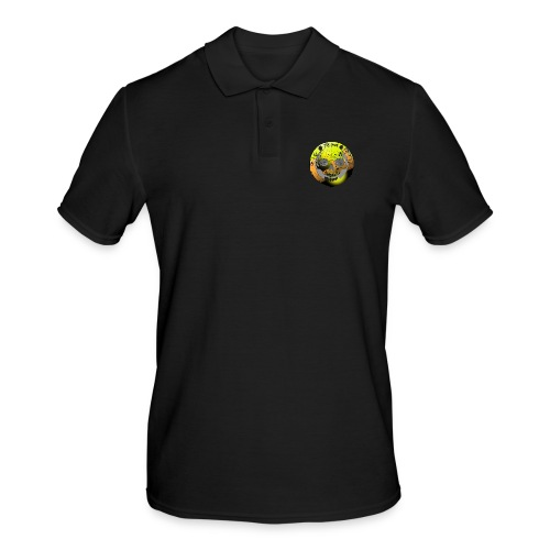 Rigormortiz Metallic Yellow Orange Design - Men's Polo Shirt