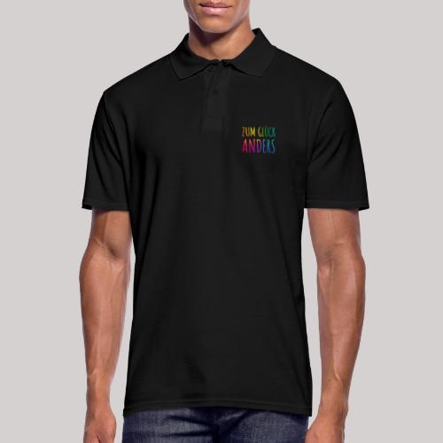 Zum Glück anders - Männer Poloshirt