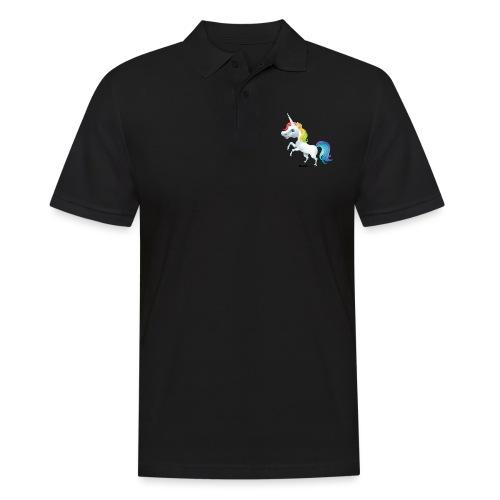 Regenbogen-Einhorn - Männer Poloshirt