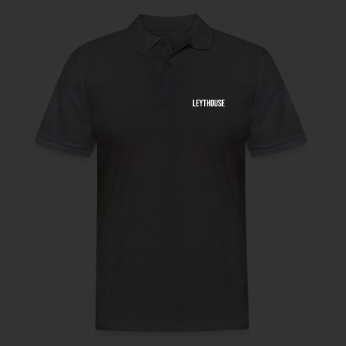 LEYTHOUSE main logo white - Men's Polo Shirt
