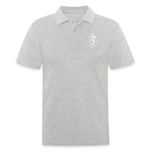 School of Mars Crest (White) - Men's Polo Shirt
